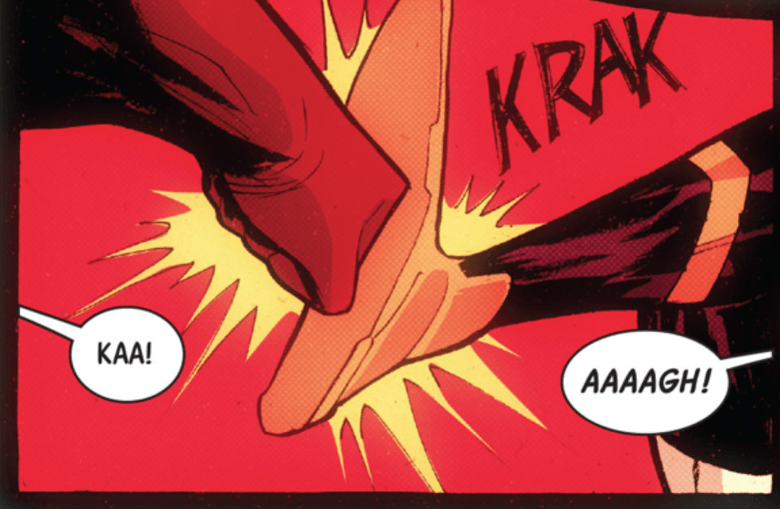 A real panel from Wolverines #8.