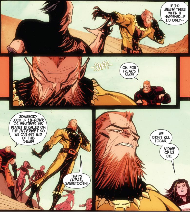 A real page from Wolverines #8.