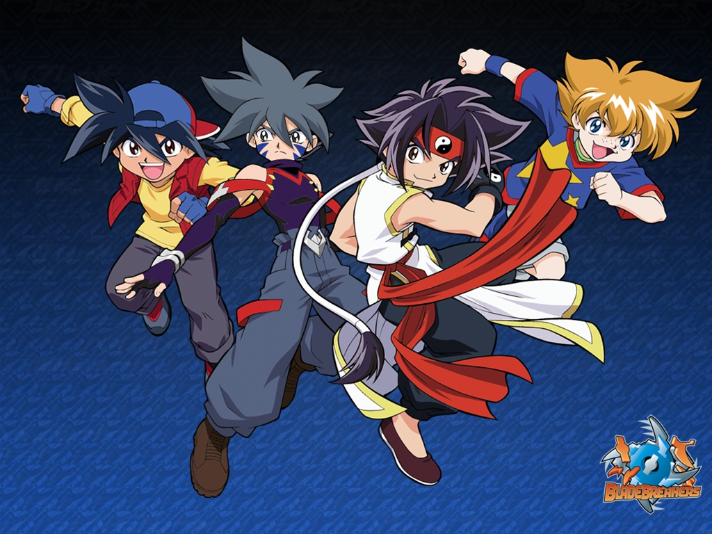 The Bladebreakers: Tyson, Kai, Ray, and Max