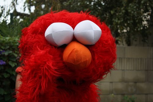 """""""Elmo confused of all these body changes."""""""