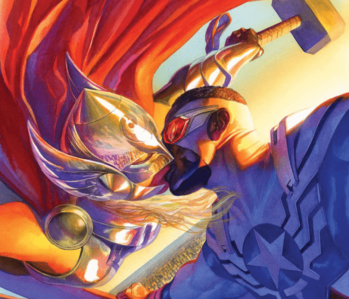 An Open Letter to Alex Ross' Cover of Thor and Captain America Kissing