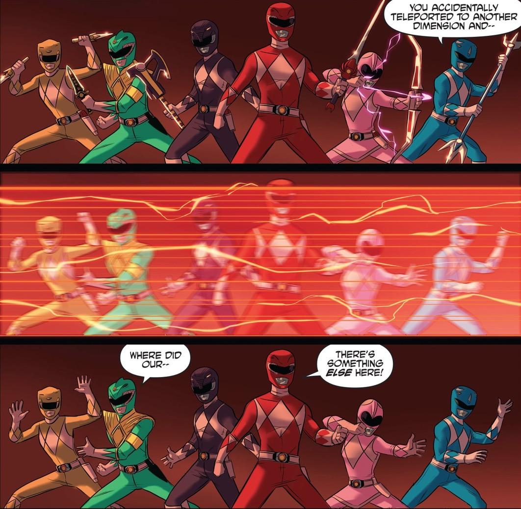 Justice League Power Rangers #1 Panel