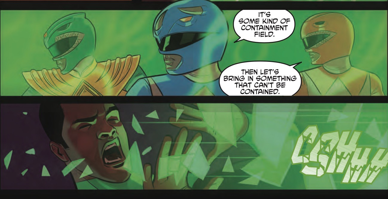 Justice League Power Rangers #2 Panel 1