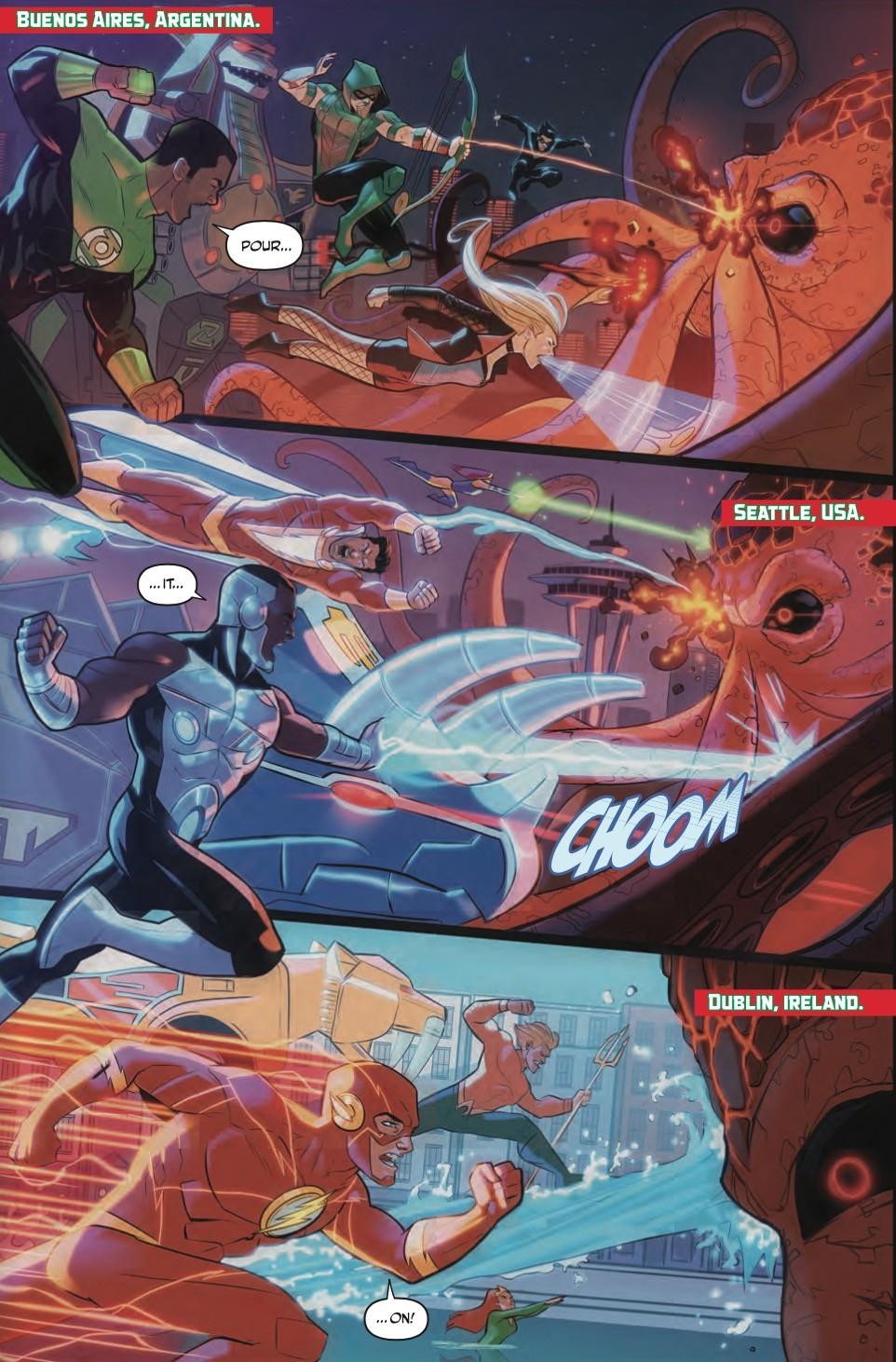 Justice League Power Rangers #3 Panel 2