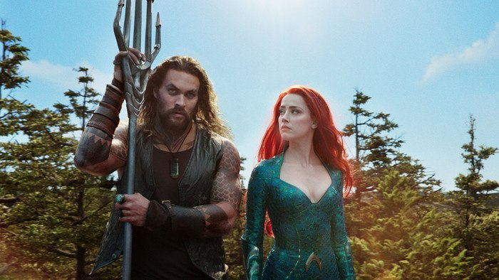 Aquaman and Mera together from Aquman movie