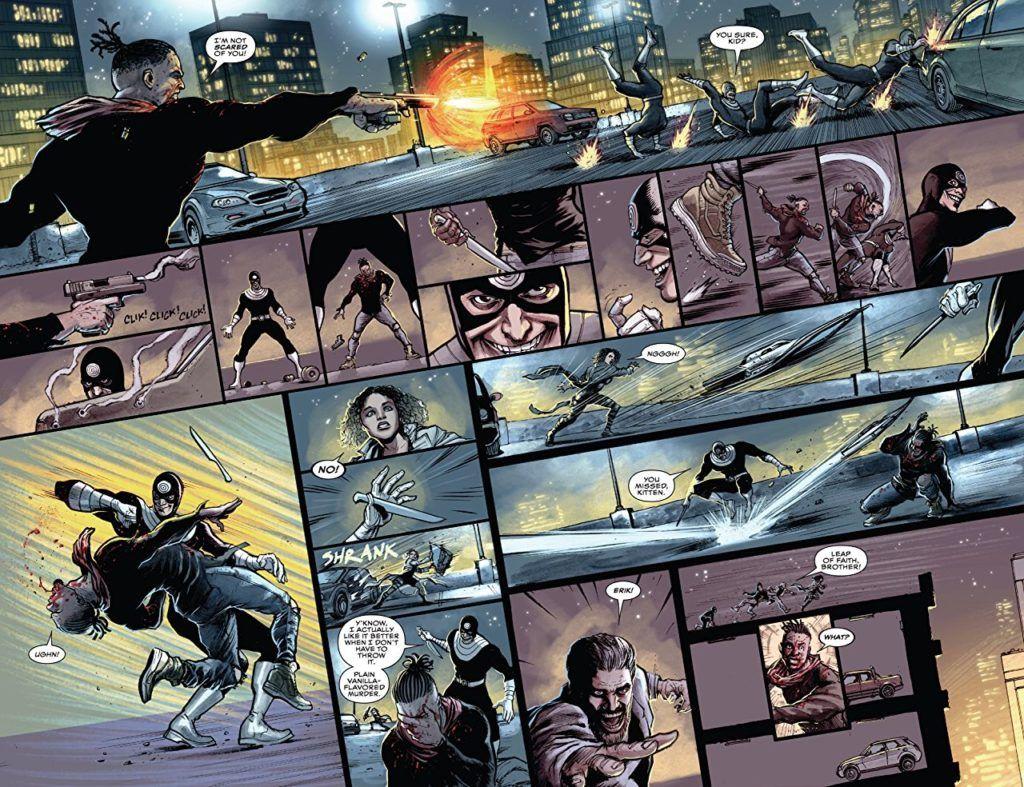 Killmonger #3 interior fight scene