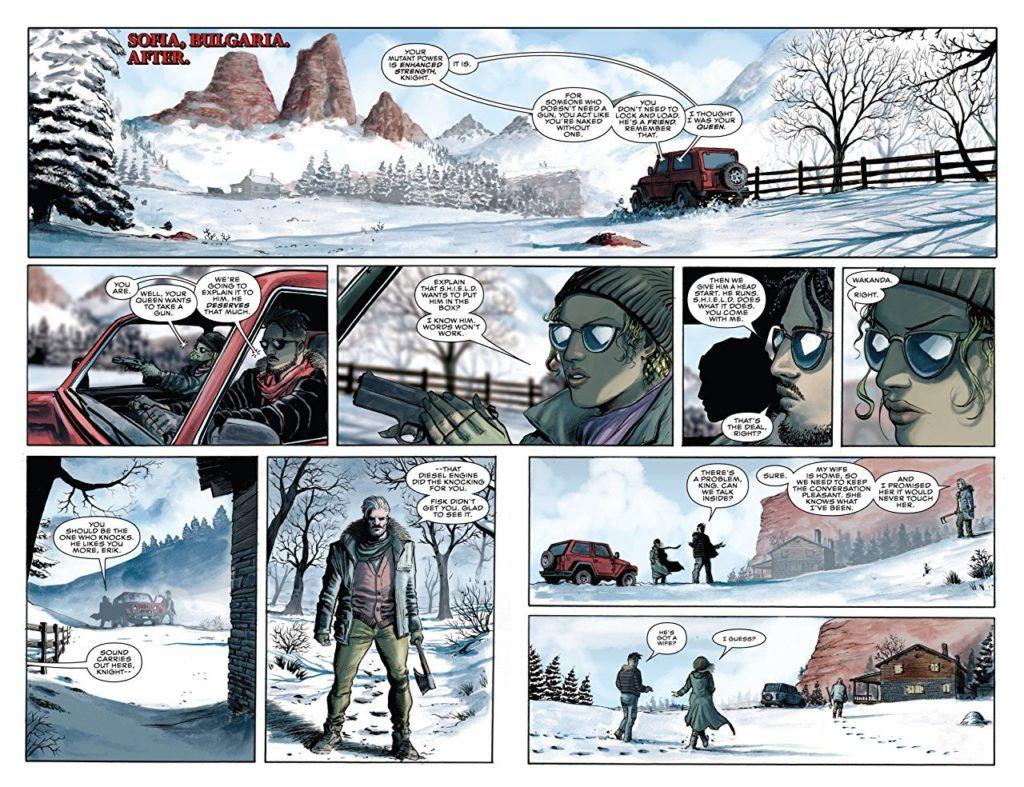 Killmonger #4 interior panels
