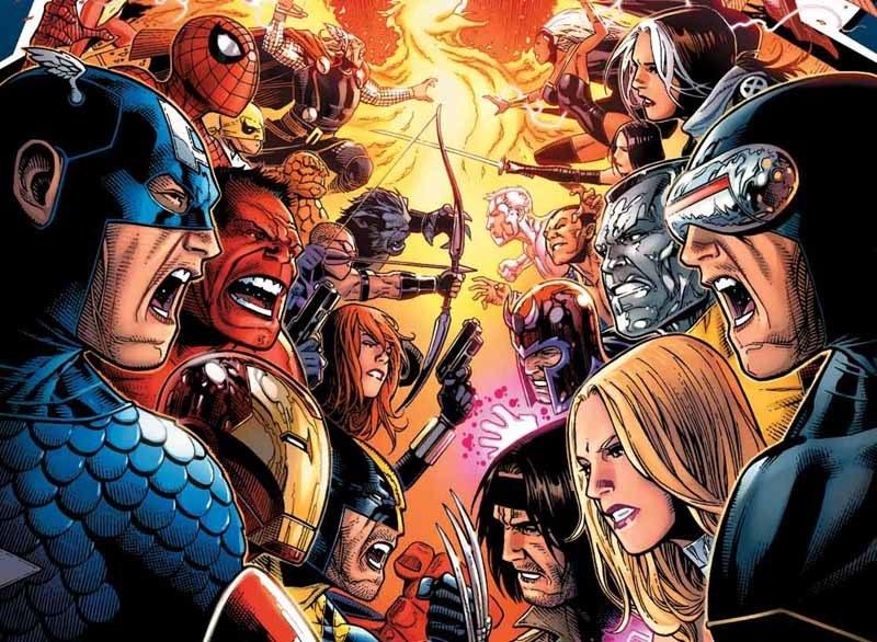X-Men vs. Avengers comic cover