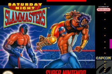 SNES box front for Saturday Night Slam Masters